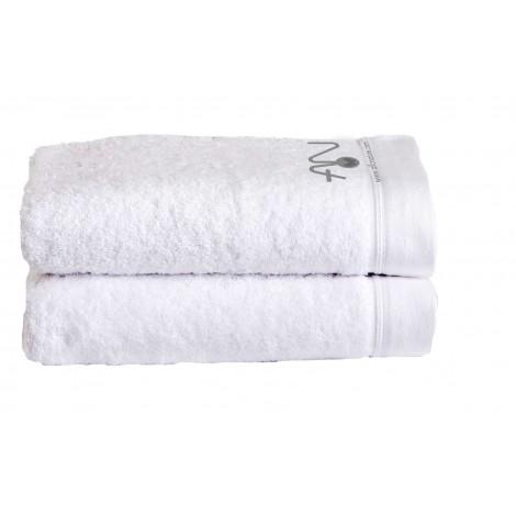 Serviettes blanches avec logo - 2 unités