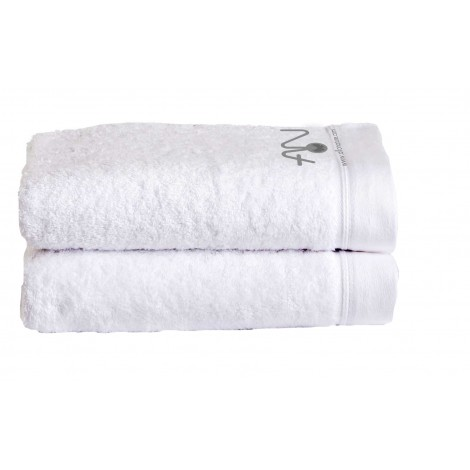 White towels with logo